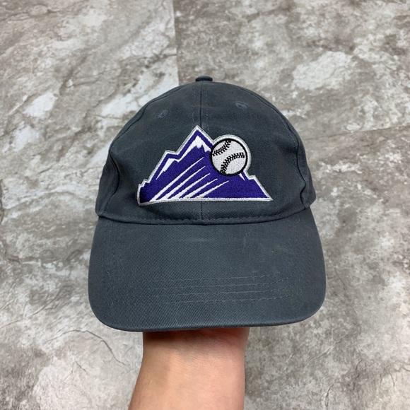 736fe8600 Coca Cola Colorado Rockies Baseball Hat Grey